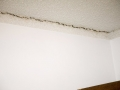 Textured ceiling crack