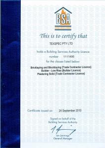 Texspec BSA Licence